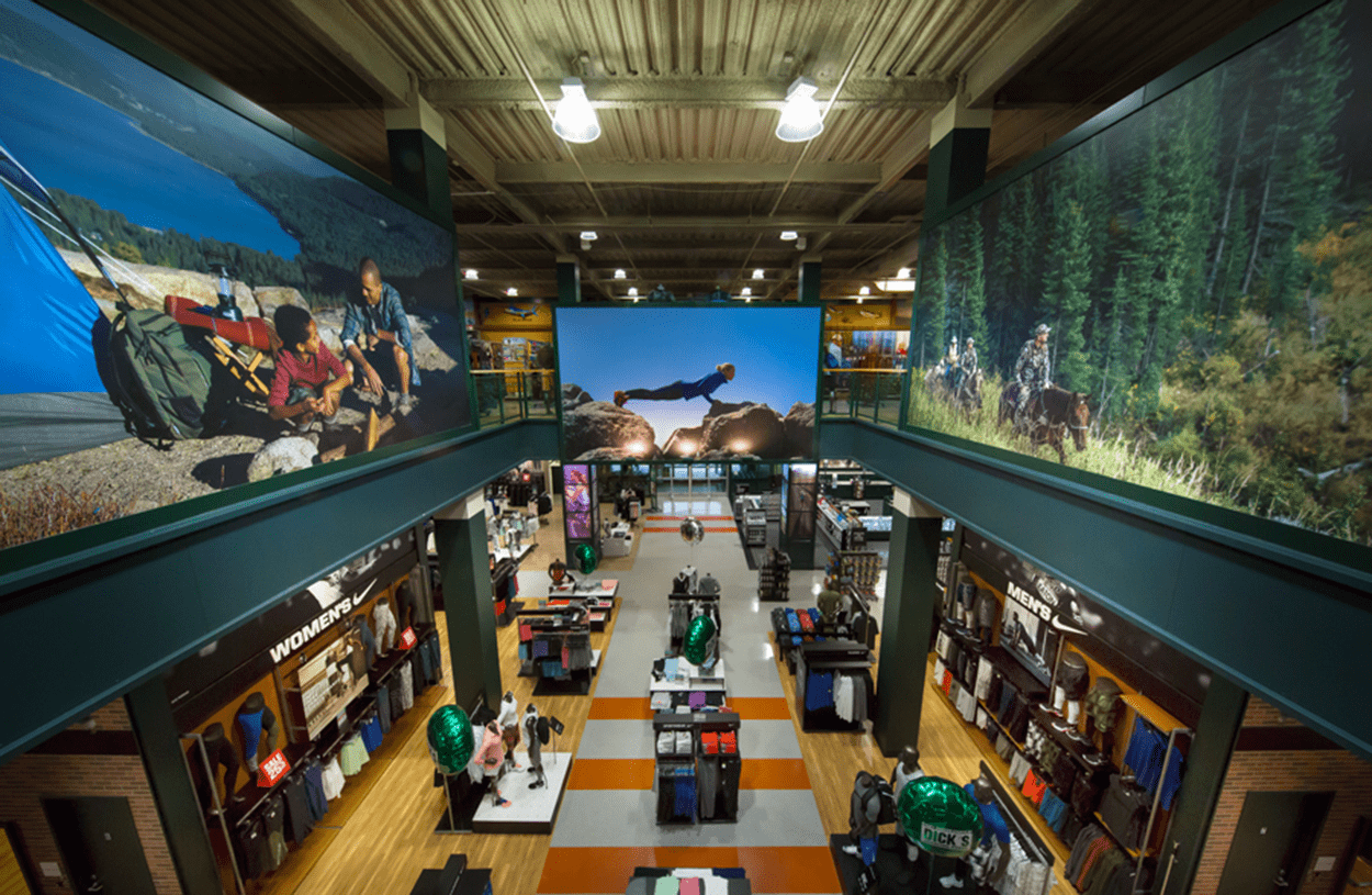 Interior shot of Dick's Sporting Goods at South Shore Mall