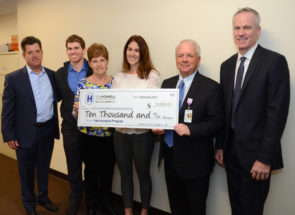 The John Bergin Benefit For A Friend Presents Good Samaritan Hospital With $10,000 Donation