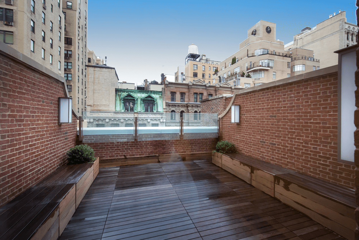 Rooftop deck of a newly constructed NYC school