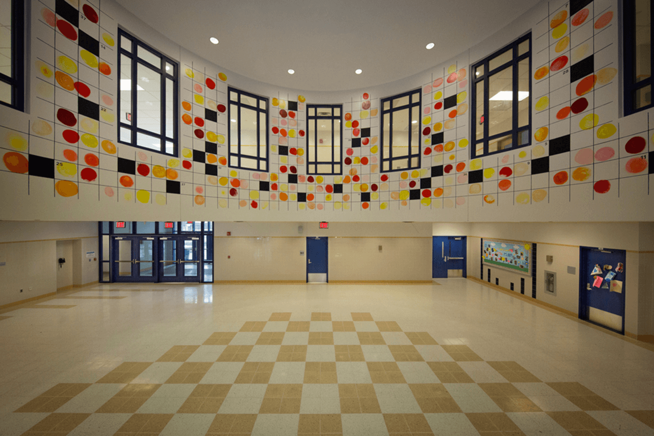 Interior shot of a New York City School Construction Authority project in Brooklyn, NY