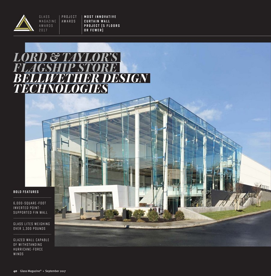Lord & Taylor Most Innovative Curtain Wall Project Award