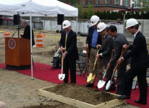 E. W. HOWELL BREAKS GROUND ON NEW RESIDENCE HALL FOR IONA COLLEGE