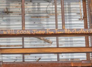 Construction Workers Write 'get Well' Messages For Kids At Stony Brook Hospital
